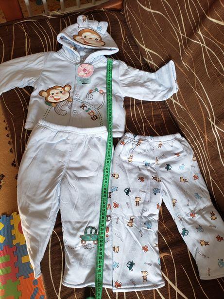 Детский тёплый костюм (в комплекте 2 пары штанов)