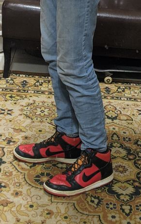 Nike Dunk High Красно - Черные