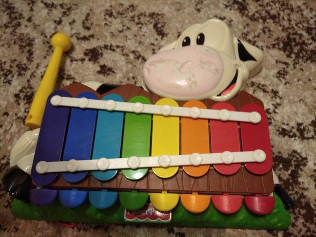 Корова ксилофон Fisher price