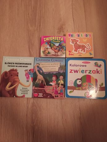 Książki dla dzieci, 5 sztuk