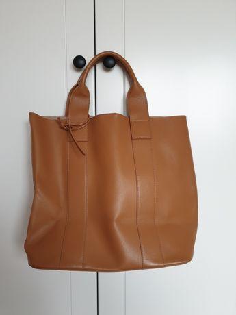 Sprzedam skórzaną torebkę shopper