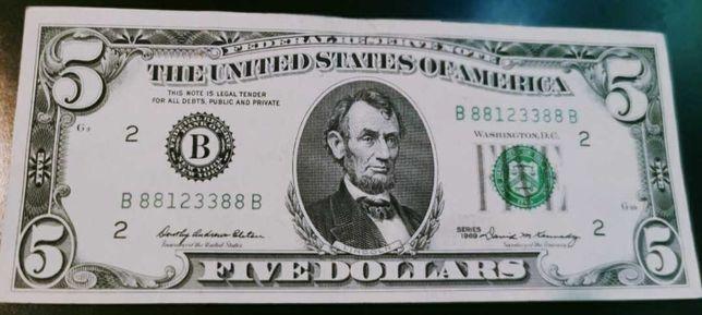 5  Dolarów USA 1969 r