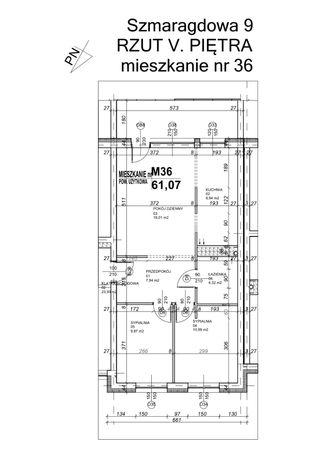 Sprzedam mieszkanie 61,07 m2 + garaż, ul. Szmaragdowa 9