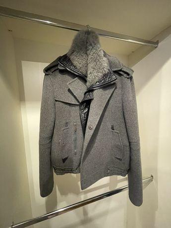Пальто с меховой жилеткой Ermanno Scervino (не Zilli , Loro Piana)