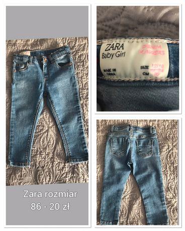 Ubranka dla dziewczynki Zara, h&m, 5 10 15