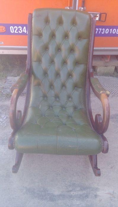 Fotel bujany - skórzany Maszów - image 1
