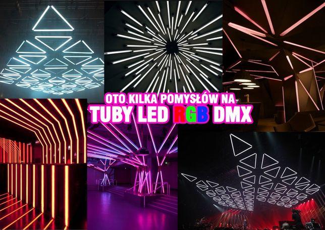 Dekoracje dyskoteka , klub, Sala DJ, Tuba RGB LED, Oświetlenie, Lampa,