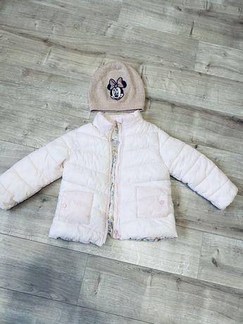 Нежная куртка zara весна-осень, шапка в подарок