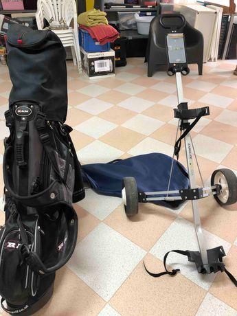 Set de golf em grafite RAM + trolley