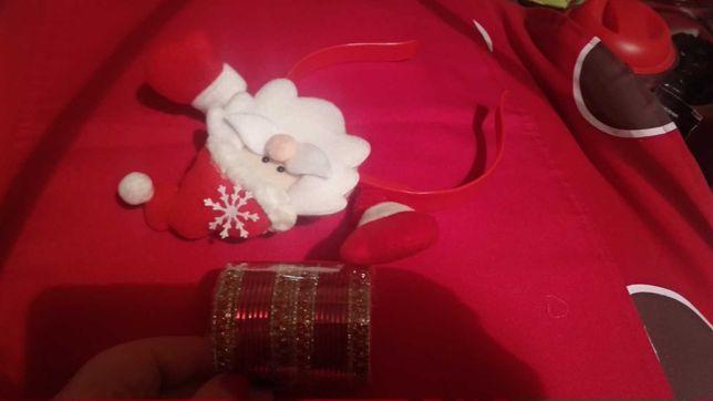 игрушка игрушечные на куклу браслеты и обруч дед мороз пластик
