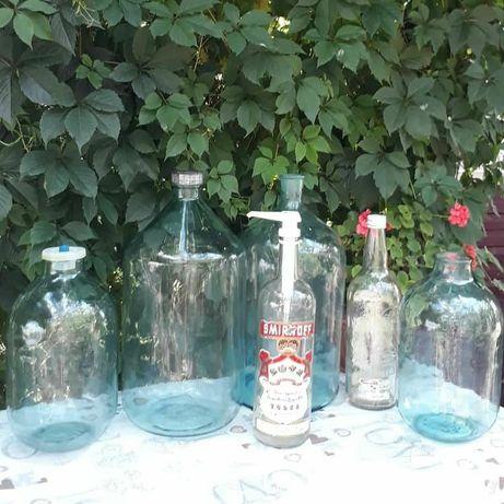 Бутылки стеклянные 3л.