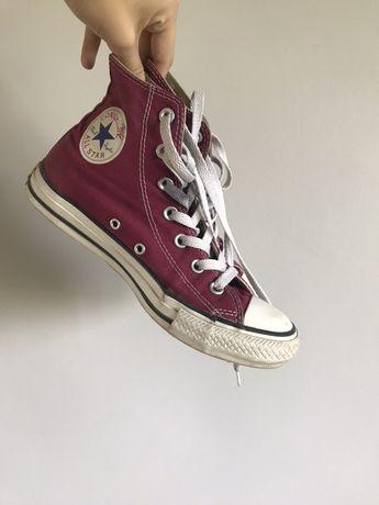 Converse all star oryginalne czerwone burgundowe bordowe 39 wysokie