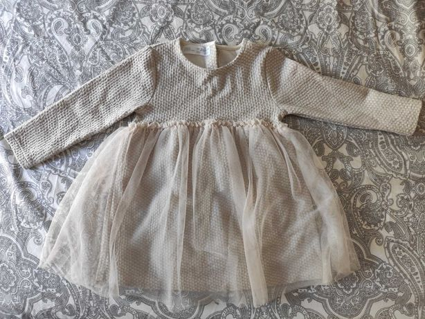 Vestido Zara festa/cerimónia criança menina 18-24M 92cm