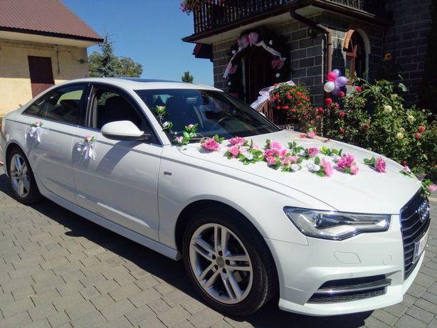 Audi A6 S-Line Super Promocja białe auto do ślubu już od 400zł
