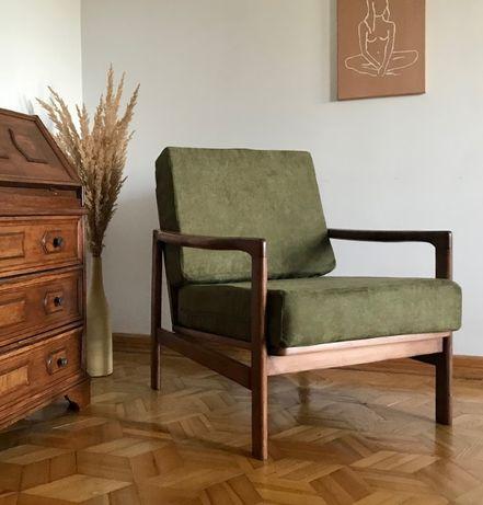 Fotel Zenon Bączyk b7522 po renowacji zielony