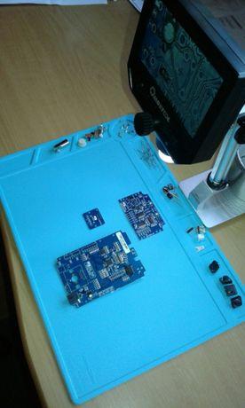 Tapete em silicone resistente ao calor para trabalhos em eletrónica