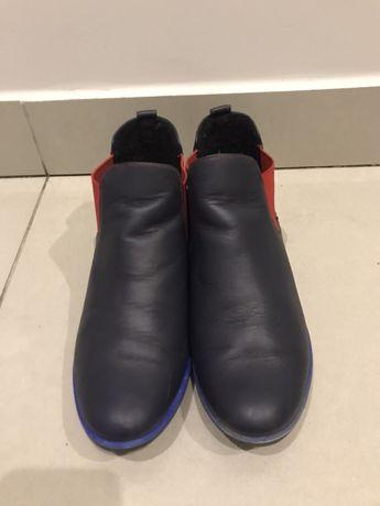 Buty damskie skórzane (botki ocieplane)