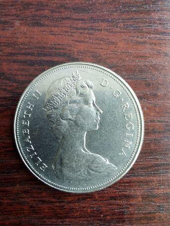 Moneta 1 dolar Kanada przyłączenie kolumbii brytyjskiej