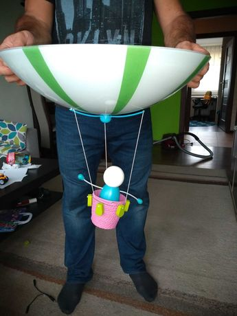 Lampa żyrandol do pokoju dziecka Massive balon balonik ludzik