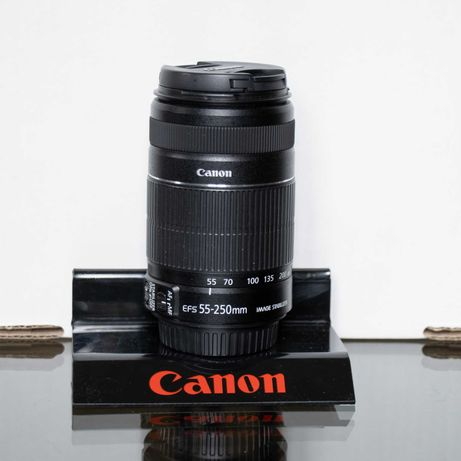 Lente / Objetiva Canon EF-S 55-250mm f/4-5.6 IS II - estabilizador
