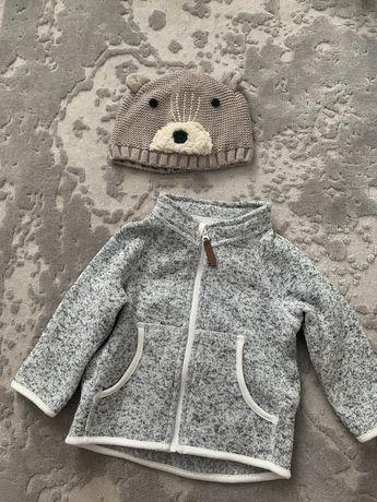 Теплый верх и шапочка для мальчика