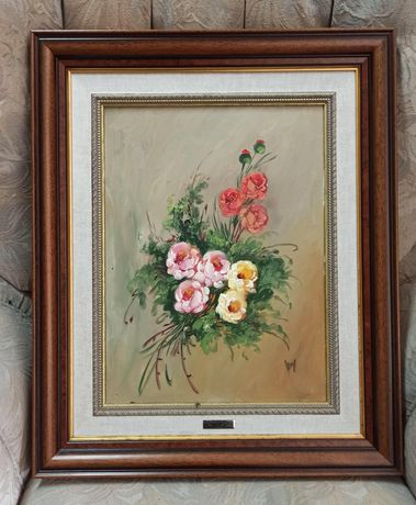 4 quadros pintados à mão