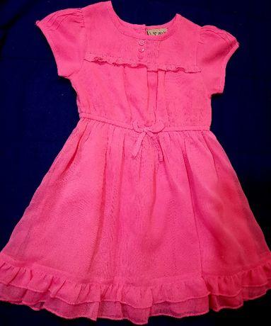 Яркое нарядное платье Next на девочку 2-3 года юбка фатин