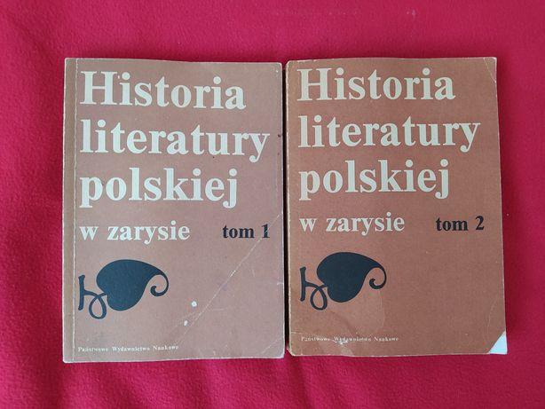 """Zestaw """"historia literatury polskiej w zarysie"""" tom 1 i 2"""
