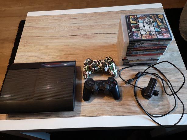 Ps3 Super Slim 500 GB Mega zestaw 12 gier