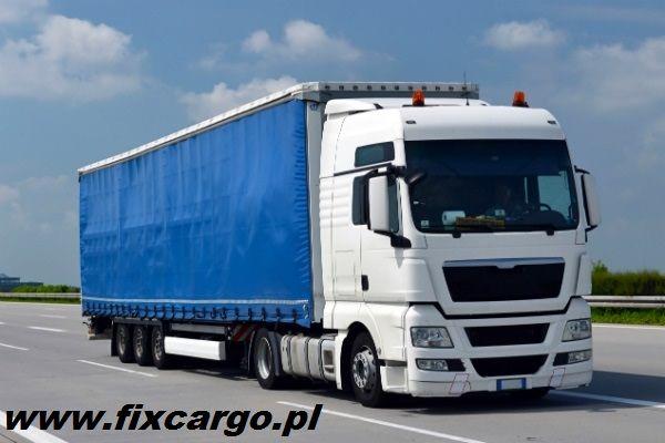 Transport ciężarowy TIR 1-24t firana plandeka platforma solo bus 13,6m