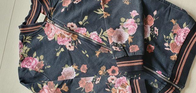 Bluza ZARA 140 na zamek kolorowa w kwiaty