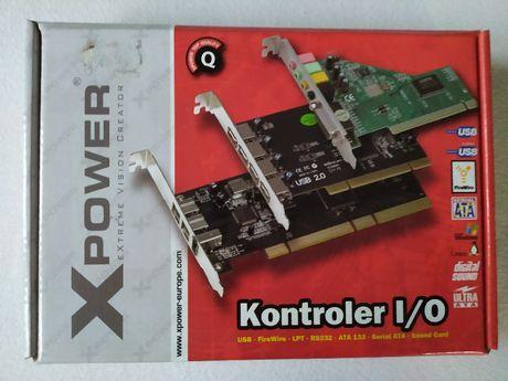 Kontroler karta płyta USB, rozdzielacz, hub, 3x USB, X- Power