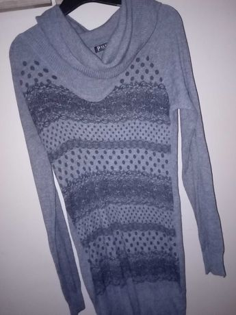 Sweterek damski golf tunika S/M