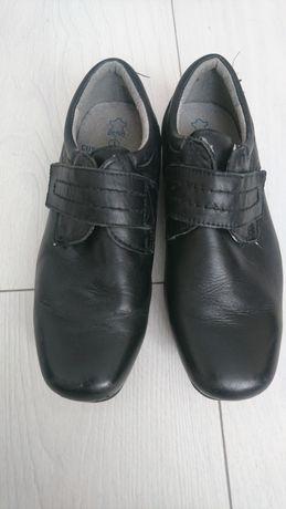 Туфли на мальчика 34 размер, кожа