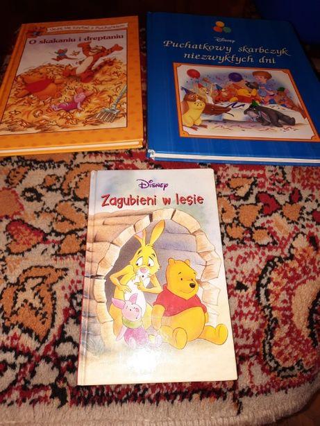 Kubuś Puchatek książki dla dzieci z serii Disney 3 szt + karty do gry
