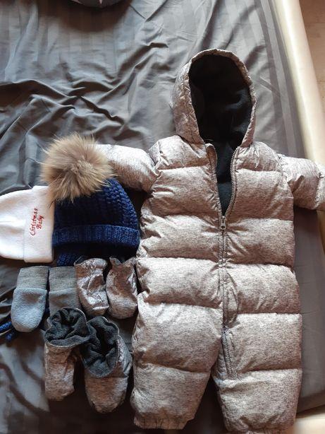 Детский зимний комбинезон,  пуховик Gap 6-12 месяцев, зимний костюм
