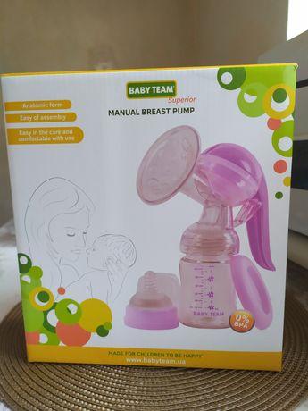 Молокоотсос Baby Team Механический Tritan пляшечка