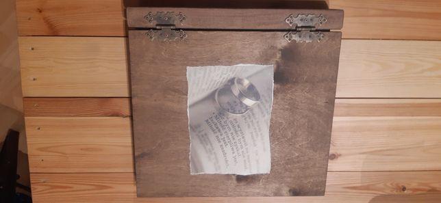 Duży album na zdjęcia ślubny 75 kart, w drewnianej oprawie + gratisy