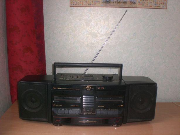 """Винтажная магнитола """"JVC PC-V88""""конца 80-х годов пр-ва Япония."""