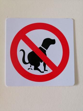 Placa de aviso em PVC