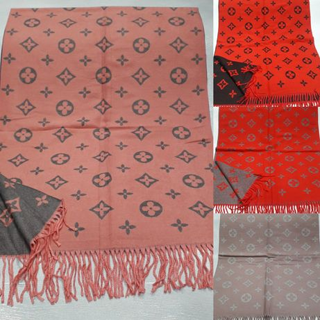 Женский мужской брендовый  тёплый шарф  платок палантин Chanel Gucci