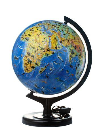 Глобус ІПТ Загальногеографічний з тваринами з підсвічуванням 320 мм