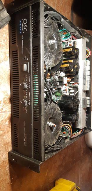 QSC RMX 5050, CROWN XLS 5000, końcówka mocy, wzmacniacz, uszkodzony