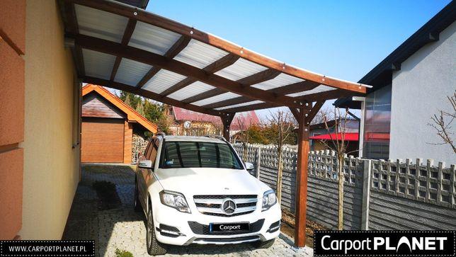 nowoczesna wiata garażowa zadaszenie z drewna projekt olx