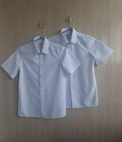 Рубашка белая школьная ф.Marks&Spencer р-140,для мальчика 10лет