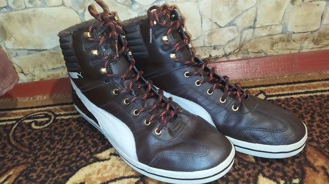 Кеды/кроссовки зимные Puma Winter кожаные (45 - 29 см) с мехом на меху
