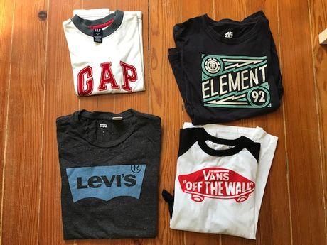 T shirt Vans, Gap, Element, Levi Strauss desde 4 anos