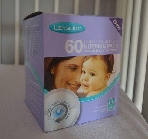 Wyprawka wkładki laktacyjne 60sztuk Lansinoh ciąża