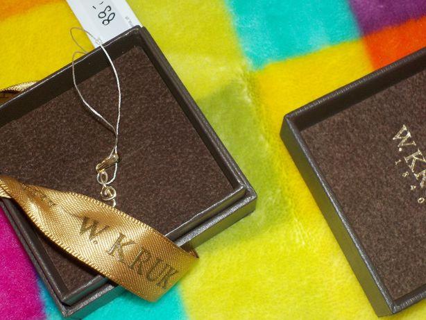 Złoty wiolinowy klucz próba złota 333 marka Kruk