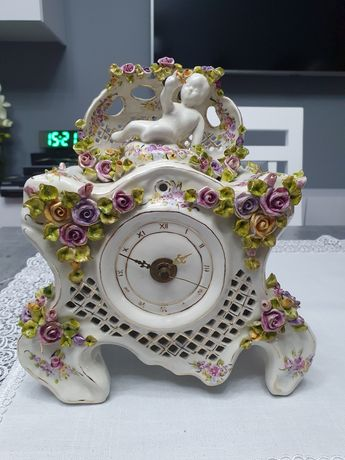 Zegar ręcznie wykonany z porcelany